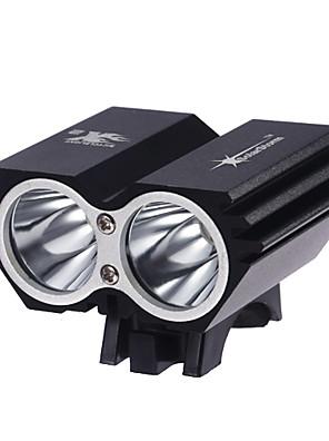 Iluminação Lanternas de Cabeça LED 2000 Lumens 3 Modo Cree XM-L2 T6 18650.0Prova-de-Água / Recarregável / Super Leve / Tamanho Compacto /