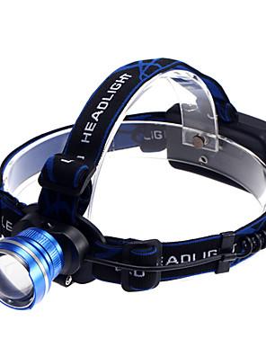 תאורה פנסי ראש LED 1200 Lumens 3 מצב Cree XM-L T6 18650 עמיד למים / ניתן לטעינה מחדש / גודל קטן / קל במיוחד / גודל קומפקטי