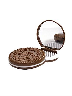 6,5 * 6,5 * 1,2 cm Chokolade kosmetikspejl