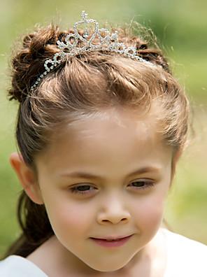 נערת פרחים ריינסטון / סגסוגת כיסוי ראש-חתונה / אירוע מיוחד נזרים / סרטי ראש