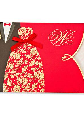 Nem személyre szabott Felöltő & Zseb Esküvői Meghívók Meghívók Klasszikus stílus / Menyasszony és vőlegény stílusaKártyapapír /