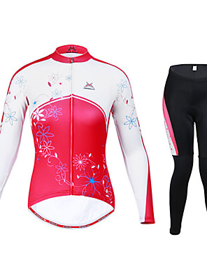 MYSENLAN® Calça com Camisa para Ciclismo Mulheres Manga Comprida MotoRespirável / Mantenha Quente / Secagem Rápida / A Prova de Vento /