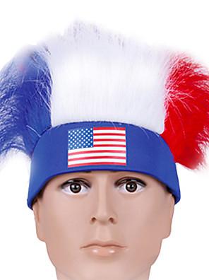 Vlasové ozdoby Festival/Svátek Halloweenské kostýmy Červená / Bílá / Modrá Čelenka Halloween / KarnevalTerylen / Polyester /