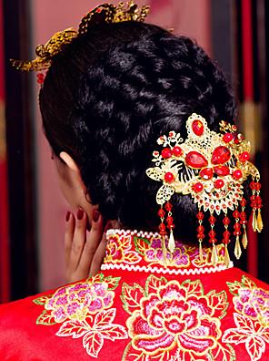 elegant kinesisk guld hovedklæde til bryllupper