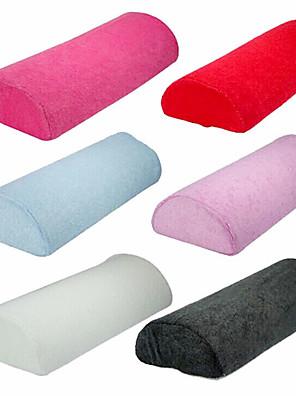 Handdoek Stof Soft Hand Kussen Pillow Rest Nail Art Treatment (willekeurige kleur)