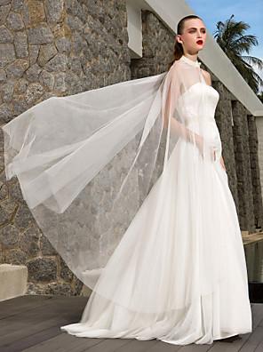 Lanting Bride® A-line / Princess Petite / Plus Sizes Wedding Dress - Chic & Modern / Glamorous & Dramatic Wedding Dresses With WrapSweep