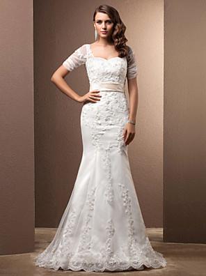 Lanting Bride® Sereia Pequeno / Tamanhos Grandes Vestido de Noiva - Clássico e atemporal / Elegante e LuxuosoInspiração Vintage /