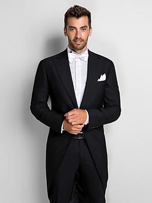 Black 100% Vlna Slim Fit Two-Piece Tuxedo