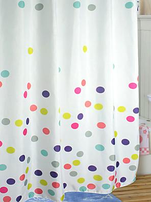 Aranyos Cartoon stílus színes pöttyös zuhanyfüggöny