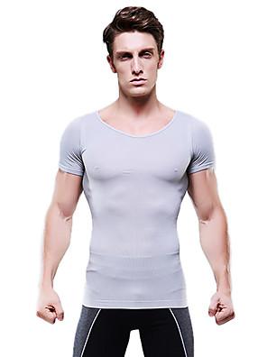 letní muži hubnutí Body Shaper krátký rukáv kontrola košile bříško spodní prádlo firmy bříško poprsí šedá ny103