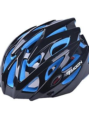 Lua 25 aberturas pc + eps integralmente moldado preto capacete de ciclismo (56-62cm)