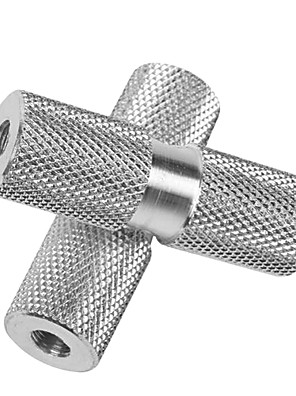 duuti um par de ligas de alumínio bicicleta bmx prata eixo dianteiro traseiro pinos de pé sólido