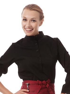 מדים מסעדה 3/4 חולצות מלצר שרוול עם משיכה על