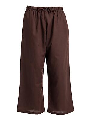 vrouwen bruine koord broek