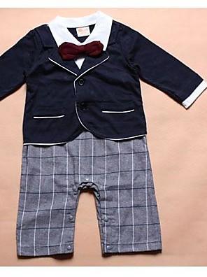 gola de abertura de cama manga longa do menino camisas brancas + laço vermelho + azul + casaco calças xadrez macacão de design