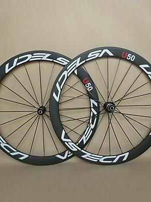 700c udelsa U50 U-vorm carbon wielen voor road fiets met lichtgewicht naven