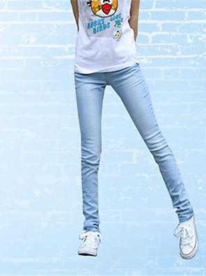 kvinnors bomull mode flickor classy vintage denim jeans