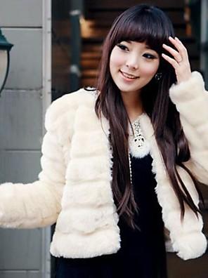 dámská móda osobnost imitace kožešiny teplý krátký kabát
