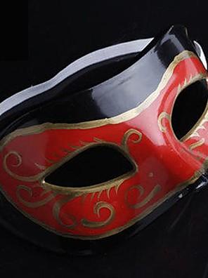 Maska cosplay Festival/Svátek Halloweenské kostýmy Červená / Černá Tisk Maska Halloween Pánské PVC