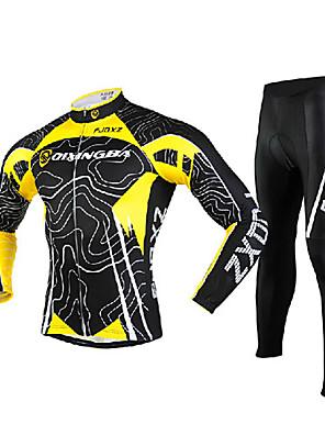FJQXZ® Calça com Camisa para Ciclismo Homens Manga Comprida MotoRespirável / Secagem Rápida / A Prova de Vento / Resistente Raios
