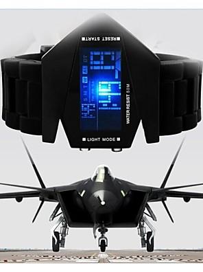 Vojenská pohodě LED displej hodinek barevné světlo digitální sportovní stealth fighter stylu náramkové hodinky