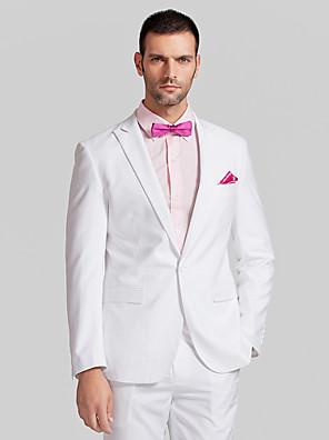 Suits Moderno Italiano Fino Comum 1 Butão Poliéster 2 Peças Branco Lapela Reta Sem Pregas (reta) Sem Pregas (reta)