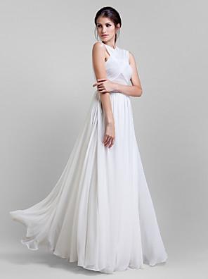 Lanting Bride® Na zem Žoržet Různorodé šaty Šaty pro družičky - A-Linie Větší velikosti / Malé s