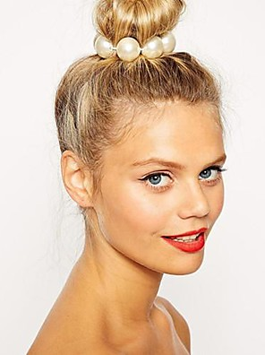 fashion grande pérola hairband das mulheres