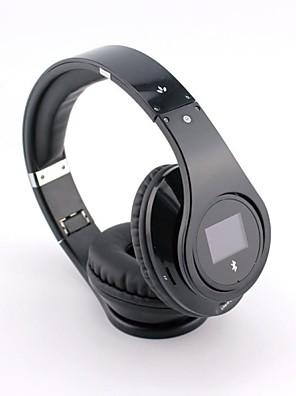 bq968 multifunções Bluetooth 3.0 sobre auscultadores da orelha com tela LCD para telefones inteligentes / pc