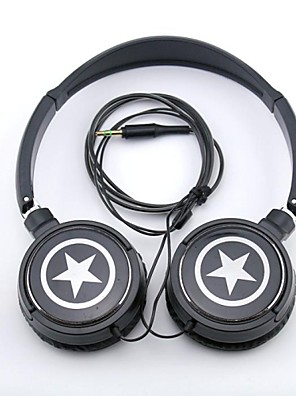 spc06 estrelas logotipo estéreo para fone de ouvido 3,5 milímetros ao longo do ouvido para mp3 / telefones / pc