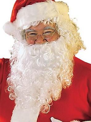 volwassen santa baard + pruik + hoed cospaly outfit