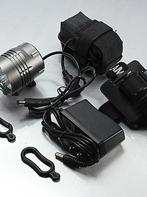 תאורה פנסי ראש LED 5200 Lumens 3 מצב Cree XM-L T6 16400 עמיד למים / ניתן לטעינה מחדשמחנאות/צעידות/טיולי מערות / שימוש יומיומי / רכיבה על
