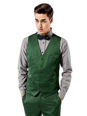 sólida colete fit personalizada verde em poliéster
