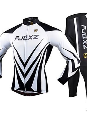FJQXZ® Cyklodres a čapáky Pánské Dlouhé rukávy Jezdit na kole Prodyšné / Rychleschnoucí / Odolný vůči UV záření / 3D PadCyklistické