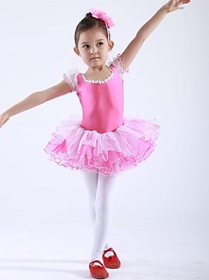 בגדי ריקוד לילדים חלקים עליונים / שמלות וחצאיות / טוטוס בגדי ריקוד ילדים שיפון / ספנדקס שרוול קצר 110:50,120:53,130:56,140:59,150:61