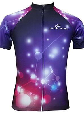 JESOCYCLING® Camisa para Ciclismo Mulheres Manga Curta Moto Respirável / Secagem Rápida Camisa/Fietsshirt / Blusas Poliéster Fashion