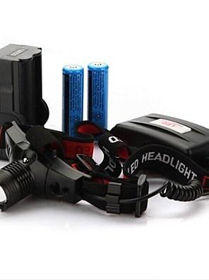 תאורה פנסי ראש LED 300 Lumens מצב Cree XR-E Q5 18650מיקוד מתכוונן / עמיד למים / ניתן לטעינה מחדש / עמיד לחבטות / אחיזה נגד החלקה / Strike
