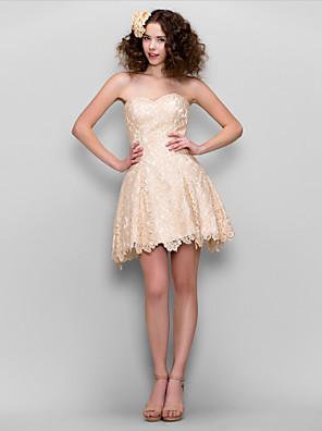 TS couture® коктейль / компания платье партии плюс размер / миниатюрное линии Милая Короткие / Мини шнурок с шнурком