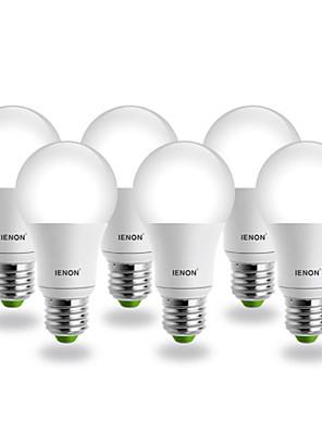 7W E26/E27 LED-bollampen G60 COB 560-630 lm Koel wit AC 100-240 V 6 stuks