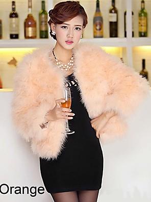 Hosszú ujjú gallér Strucc Fur Party / alkalmi kabát (több szín)