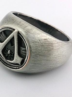 תכשיטים קיבל השראה מ Assassin's Creed קוספליי אנימה / משחקי וידאו אביזרי קוספליי טבעת כסף סגסוגת זכר