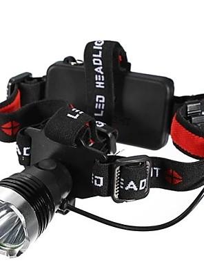 Iluminação Lanternas de Cabeça LED 1200 Lumens Modo Cree XM-L T6 18650.0 / AAAProva-de-Água / Resistente ao Impacto / Bisel de Golpe /