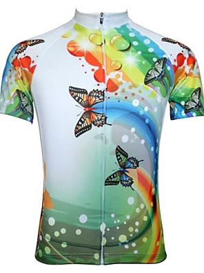 JESOCYCLING® Camisa para Ciclismo Mulheres Manga Curta Moto Respirável / Secagem Rápida Camisa/Fietsshirt / Blusas PoliésterDesenhos