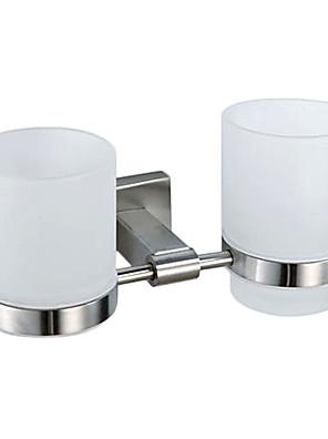 Moderne nikkel børstet 304 rustfrit stål Tandbørsteholder