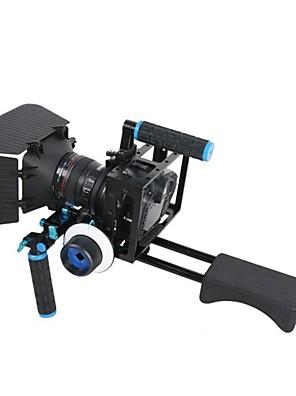 4 in1 dslr montar kit rig 1pc ombro rig 1pc fosco caixa 1pc follow foco 1pc gaiola para câmeras DSLR&câmaras de vídeo