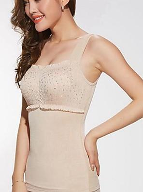 shapewear verão desossada abdômen desenho flexões corpo emagrecimento mama shaper colete cor bege tamanho XXXL