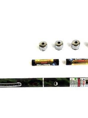50mW 5 vzor čepice zelené laserové ukazovátko pero paprsek jednoho barevného pole jsou