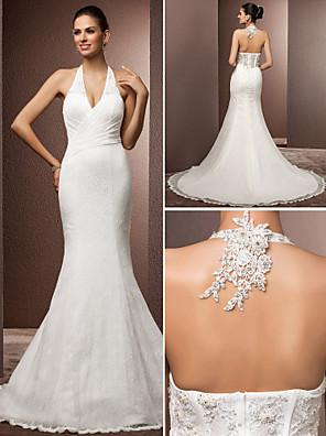 Lanting Bride® Mořská panna Drobná / Nadměrné velikosti Svatební šaty - Klasické & nadčasové / Okouzlující & dramatické Retro / Open Back