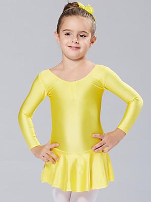 Balet Šaty a sukně / tutu a sukně / Šaty Dětské Výkon / Trénink elastan Jeden díl Dlouhé rukávy Princeznovské Šaty