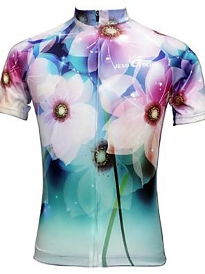 JESOCYCLING® Camisa para Ciclismo Mulheres Manga Curta MotoRespirável / Secagem Rápida / Resistente Raios Ultravioleta / Materiais Leves